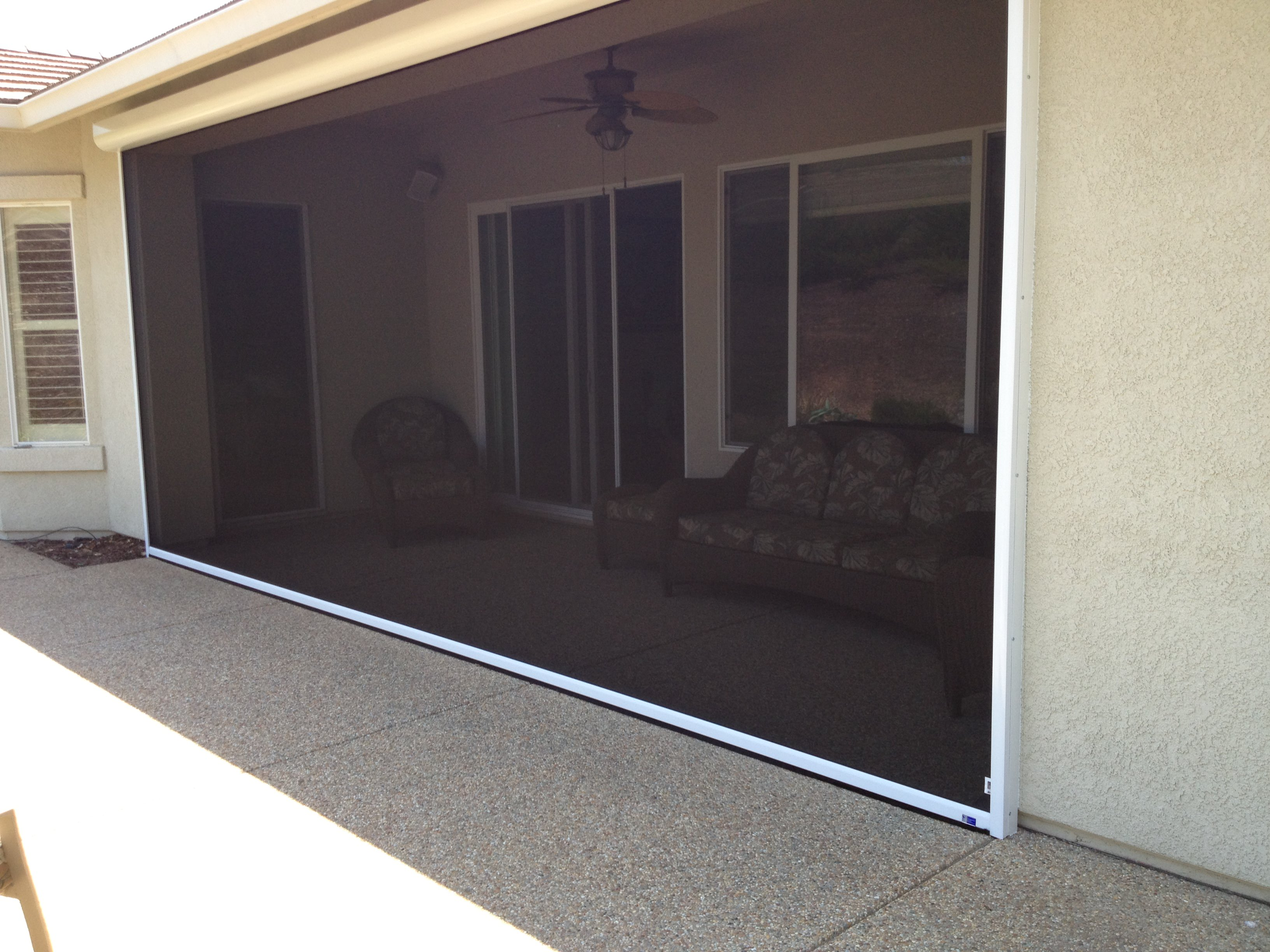 Motorized screen doors image of garage door screen kits for Motorized garage door screens