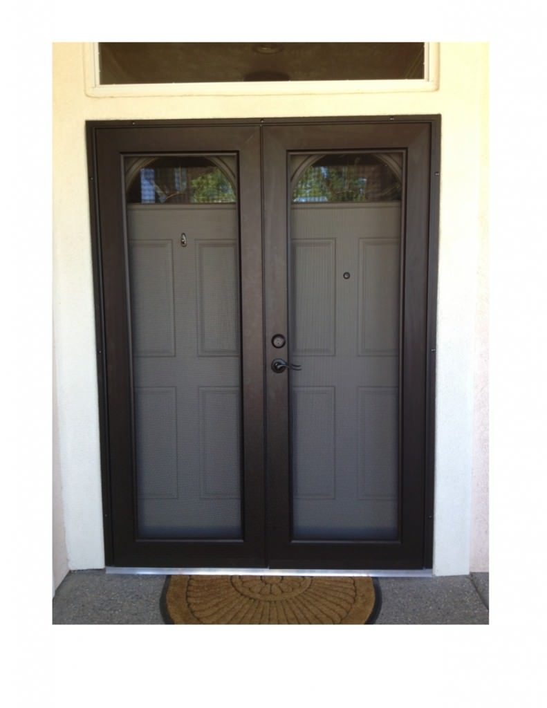 View guard security doors screens 4 less for Double storm doors for french doors