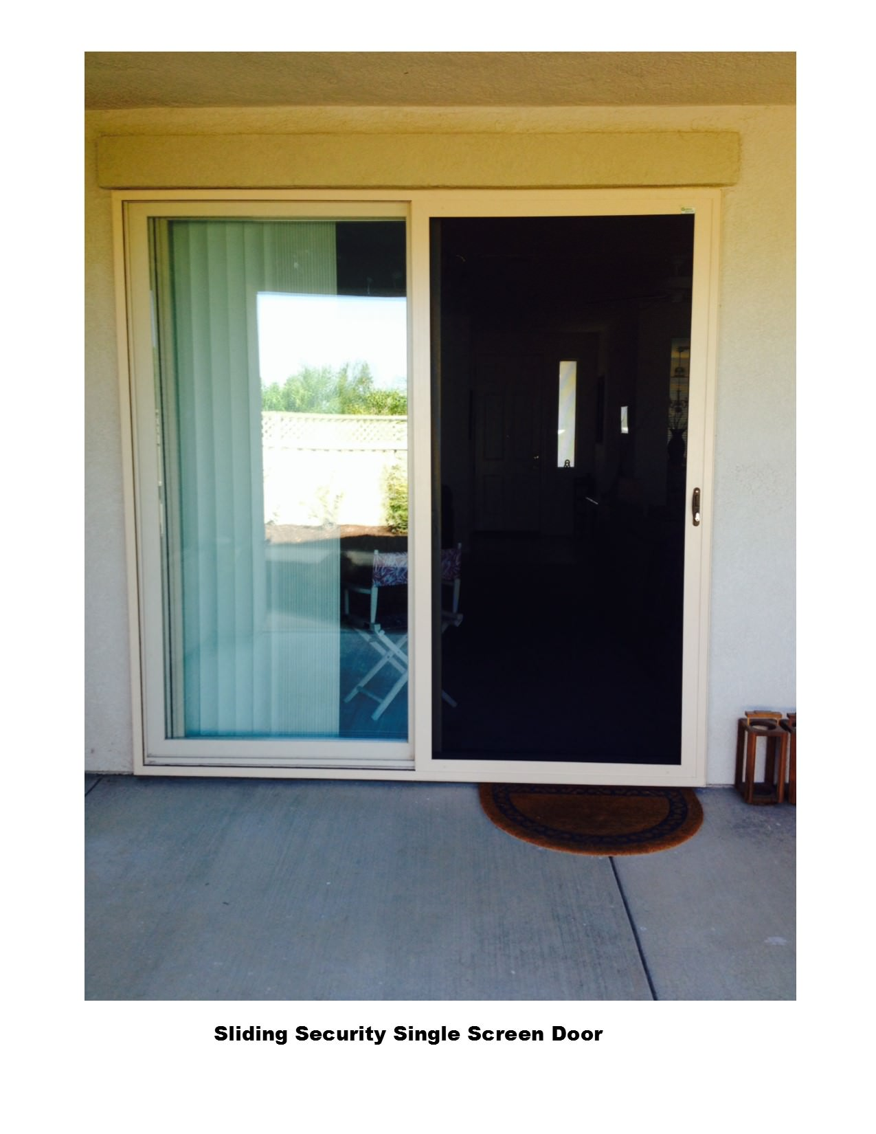 Sliding security screen doors screens 4 less available in the stainless steel mesh style similar to viewguard in single or double door options vtopaller Choice Image