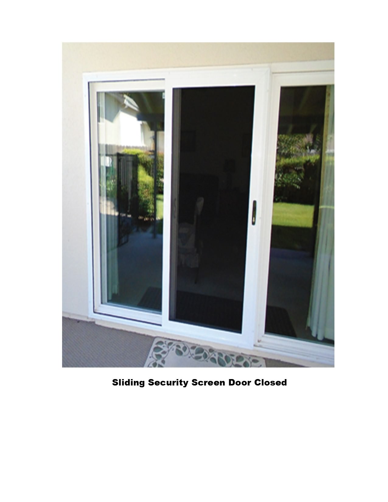 Sliding security screen doors screens 4 less for Sliding glass doors security
